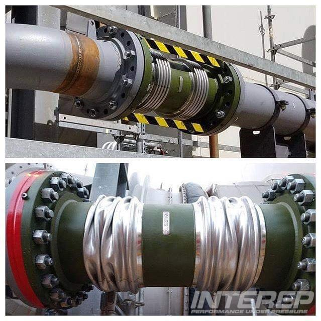 This universal expansion joint got put on the high pressure bleed air line of a gas turbine, deforming the metal bellows. It was made for the low pressure bleed air. Check with us first and we'll help you avoid rush orders and emergency repairs.