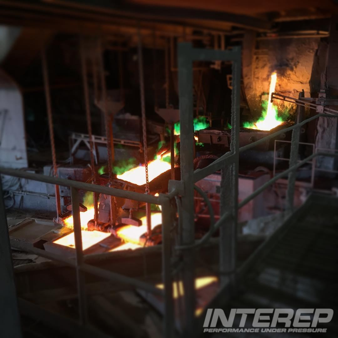 Anode Casting at a #coppersmelter  #moltenmetal